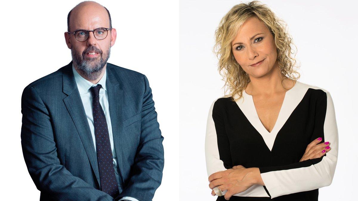 Jordi Basté (RAC 1) y Mònica Terribas (Catalunya Ràdio),directores delos programas con más oyentes de la radioen Catalunya.