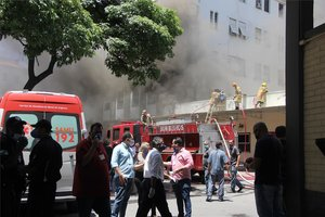 Incendio en un hospital de Río de Janiero, Brasil.