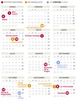 Calendario laboral de Córdoba del 2020 (con todos los festivos)