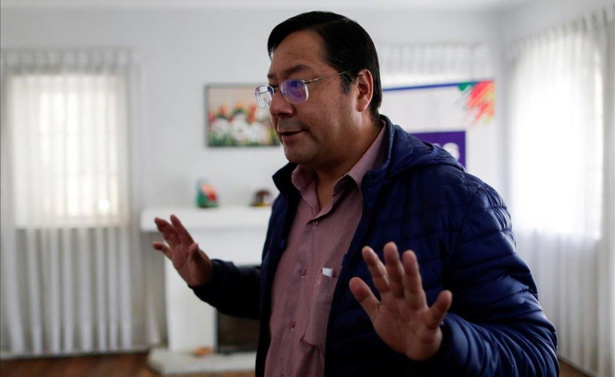 El candidato del Movimiento al Socialismo (MAS), Luis Arce, vencedor de las elecciones en Bolivia.