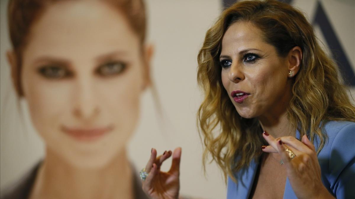 Lacantante Pastora Soler en la presentación de La calma, su nuevo disco.