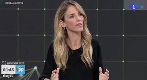Cayetana Álvarez de Toledo en el 'Debate a 7' de RTVE.