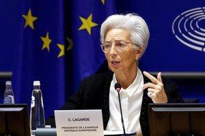 Christine Lagarde, en unacomparecencia en el Parlamento Europeo en febrero.