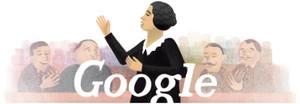 El 'doodle' de este miércoles homenajea a Clara Campoamor.