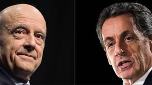 Combinación de imágenes de Juppé (izquierda) y Sarkozy.
