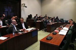 La comisión de investigación sobre el caso Vidal, este martes, en el Parlament.