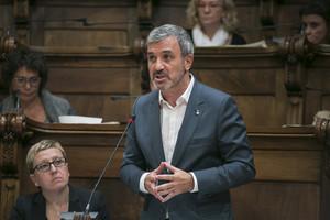 El concejal del PSC en Barcelona Jaume Collboni, en el primer pleno ordinario celebrado el pasado 2 de octubre.
