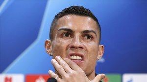 Cristiano Ronaldo en conferencia de prensa.