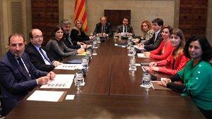 El president Torra preside la cumbre en el Palau de la Generalitat