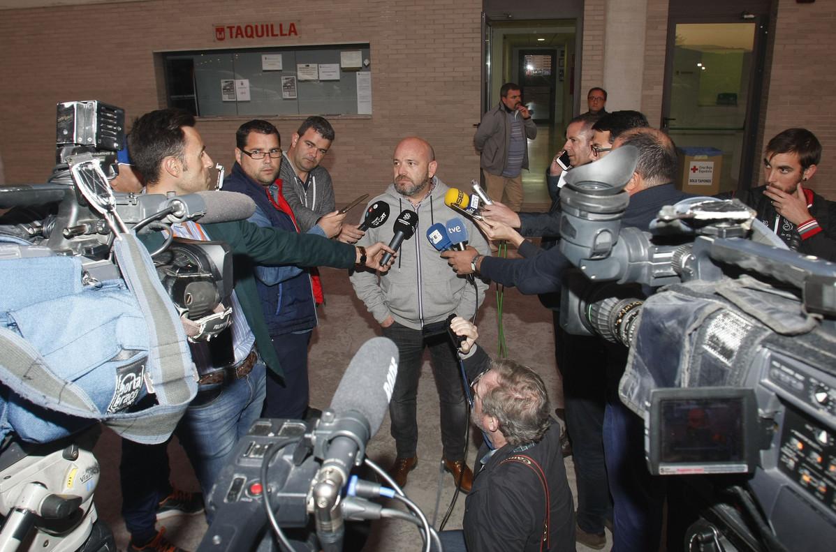 David Aguilar, presidente de la gestora, el martes, ante los medios informativos.