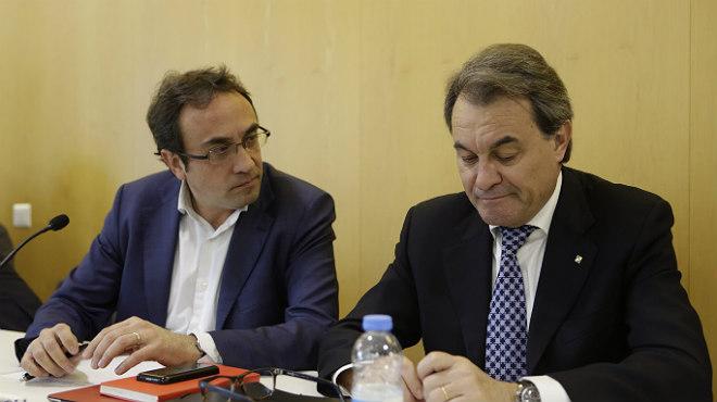 El presidente de la Generalitat en funciones, Artur Mas, ha asegurado que está tranquilo y con ganas de hacer frente a aquellosque le ponen las cosas excesivamente difíciles, en referencia a la CUP