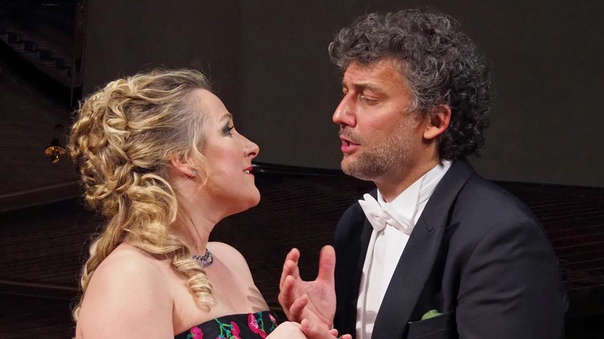Diana Damrau y Jonas Kaufmann, en el Palau de la Música