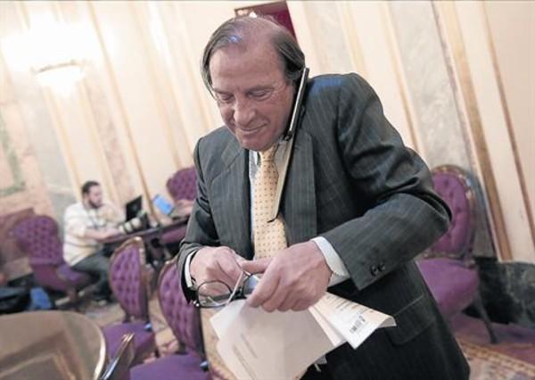 El diputado Vicente Martínez-Pujalte, el pasado 23 de abril, en el Congreso.