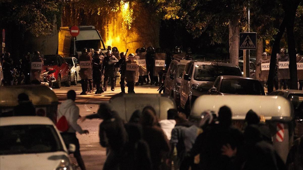 Disturbios en Girona por la sentencia del 'procés', el 17 de octubre del 2019