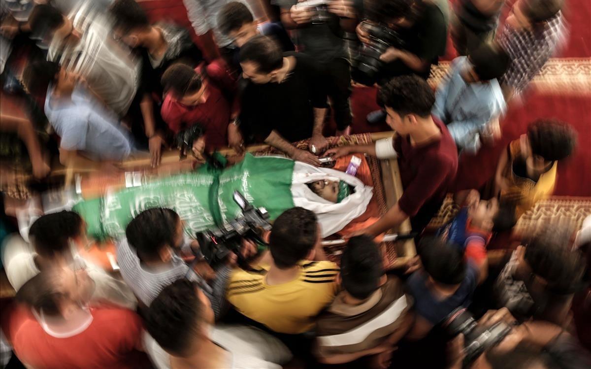 Entierro de uno de los fallecidos en Gaza.