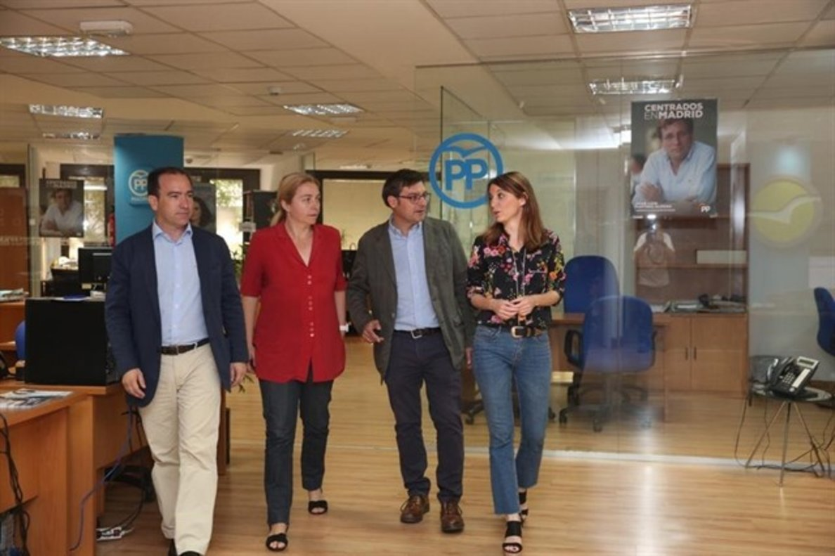 El equipo negociador del grupo municipal del PP en Madrid.