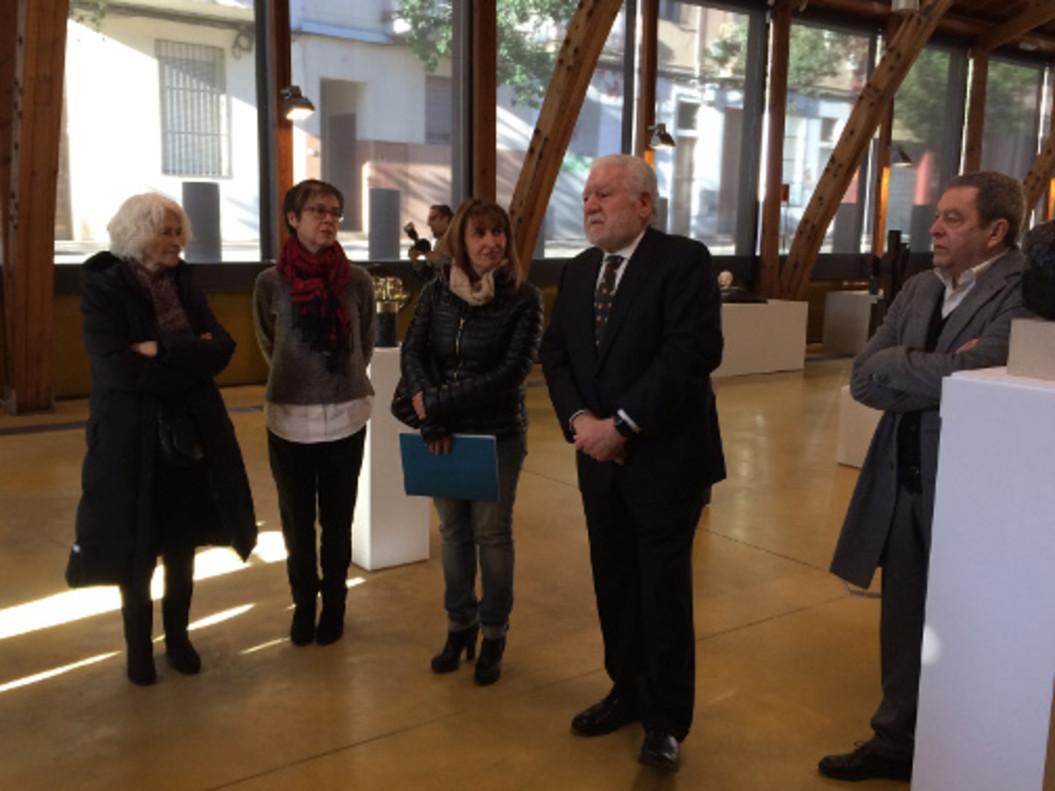 Presentación de la exposición de esculturas de la Colección Bassat e n Mataró.