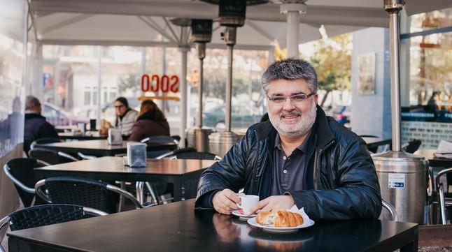 Eduard Voltas, en La Xemeneia dePoblenou.