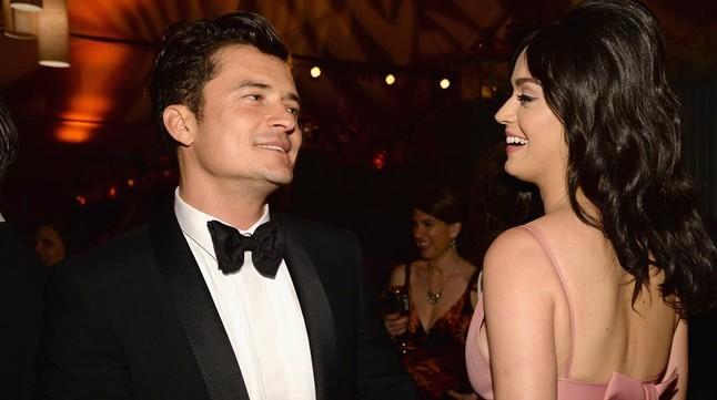 Orlando Bloom y Katy Perry, en la fiesta posterior tras los Globos de Oro, en enero del 2016, en la que se conocieron.