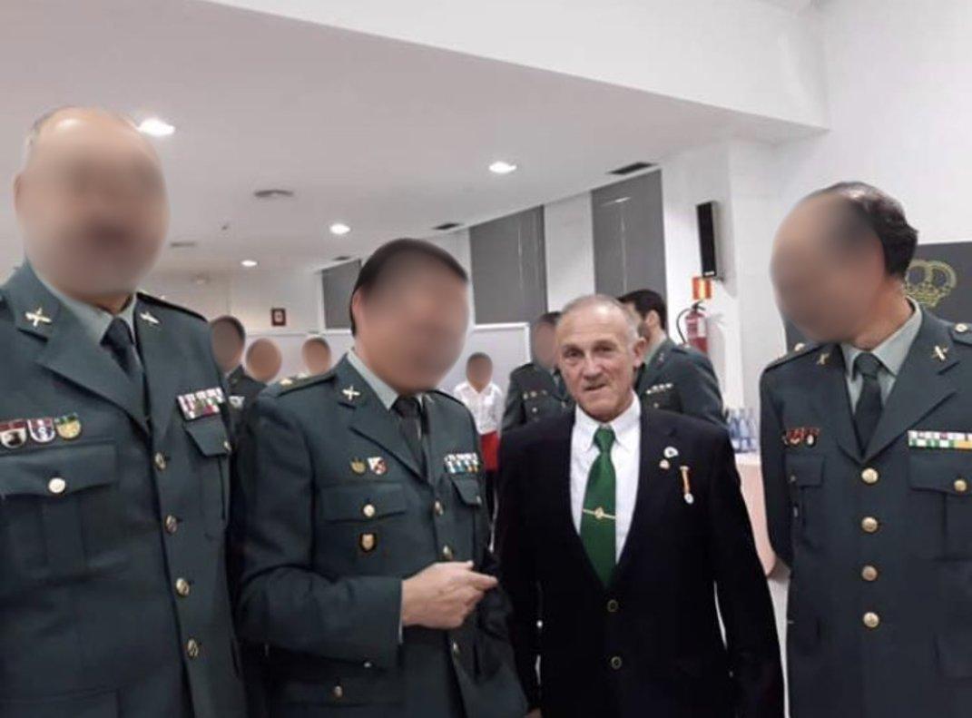 El presunto francotirador que quería matar a Pedro Sánchez con miembros de la Guardia Civil.