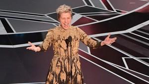 Frances McDormand, tras ganar el Oscar a la mejor actriz por Tres anuncios en las afueras