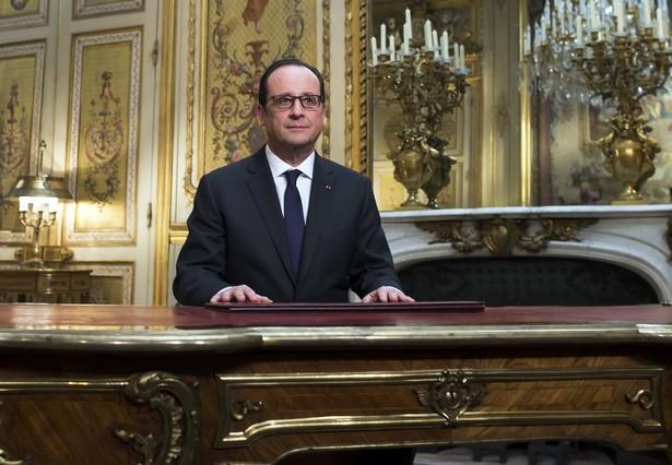 François Hollande, durante su discurso de Año Nuevo, en el Elíseo.