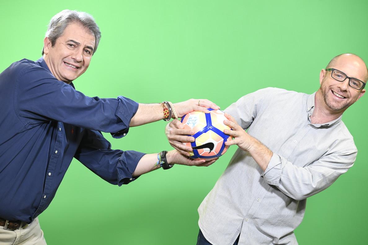 Manbolo Lama y Jesús Gallego, en una imagen promocional del nuevo programa El Golazo de Gol, del canal deportivo Gol.