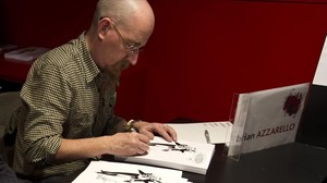 El guionista Brian Azzarello, en el Salón del Cómic del 2011.