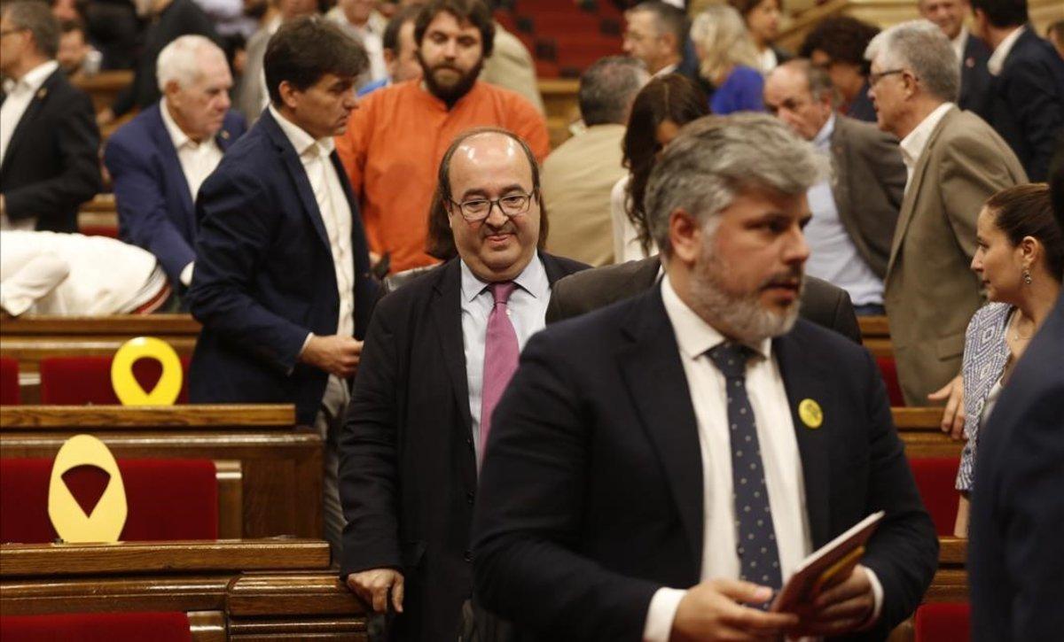 Iceta abandona el Parlament, después de que este rechazara su designación como senador.