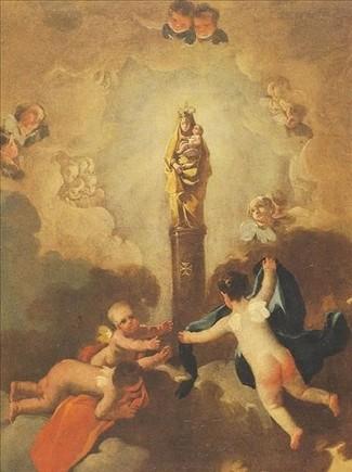 La aparición de la Virgen del Pilar, obra de Goya,del legado de Muñoz Ramonet.