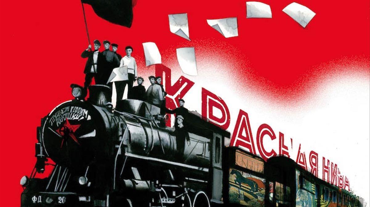 Ilustración de Fernando Vicente para Diez días que sacudieronel mundo, la crónica de John Reed sobre la revolución rusa.