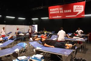 Imagen de una pasada edición del maratón de donación de sangre.