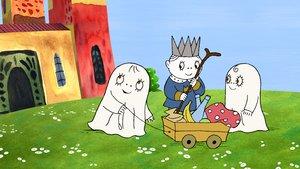 Un fotograma de 'Laban i Labolina', dos simpáticos fantasmas.