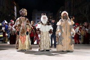 Los Reyes Magos, en una cabalgata del 2020.