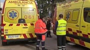 Los Servicios de Emergencias en el lugar del incidente.