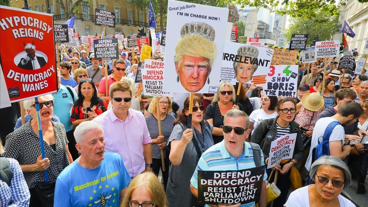 Manifestación en contra del 'brexit', este sábado en Londres.