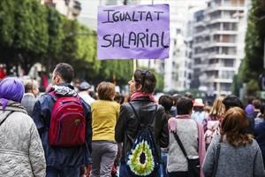 Manifestación en el Día de la Mujer Trabajadora el 2015.
