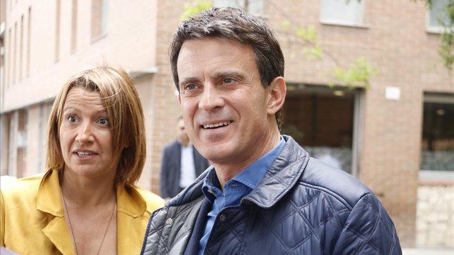 Manuel Valls y Eva Parera, la otra concejala de su grupo en el Ayuntamiento de Barcelona