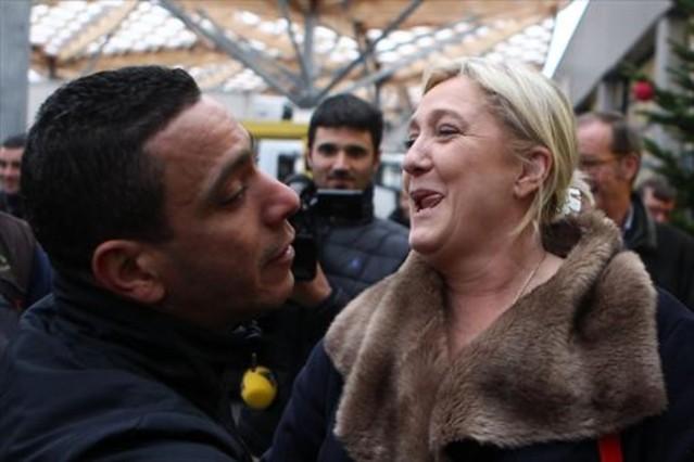 Marine Le Pen, durante la pasada campaña electoral.