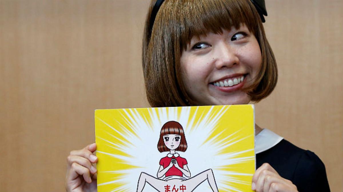 Megumi Igarashi muestra uno de sus dibujos