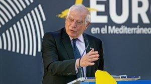 El ministro de Exteriores en funciones, Josep Borrell, en un acto.