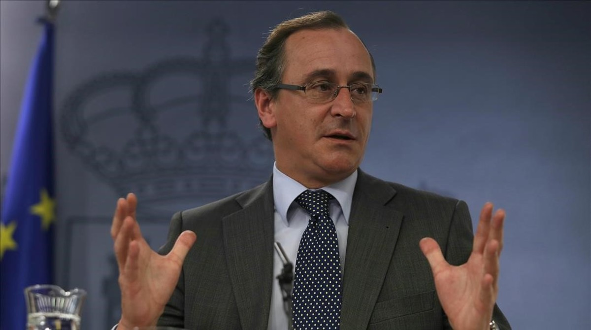 El ministro de Sanidad en funciones, Alfonso Alonso.