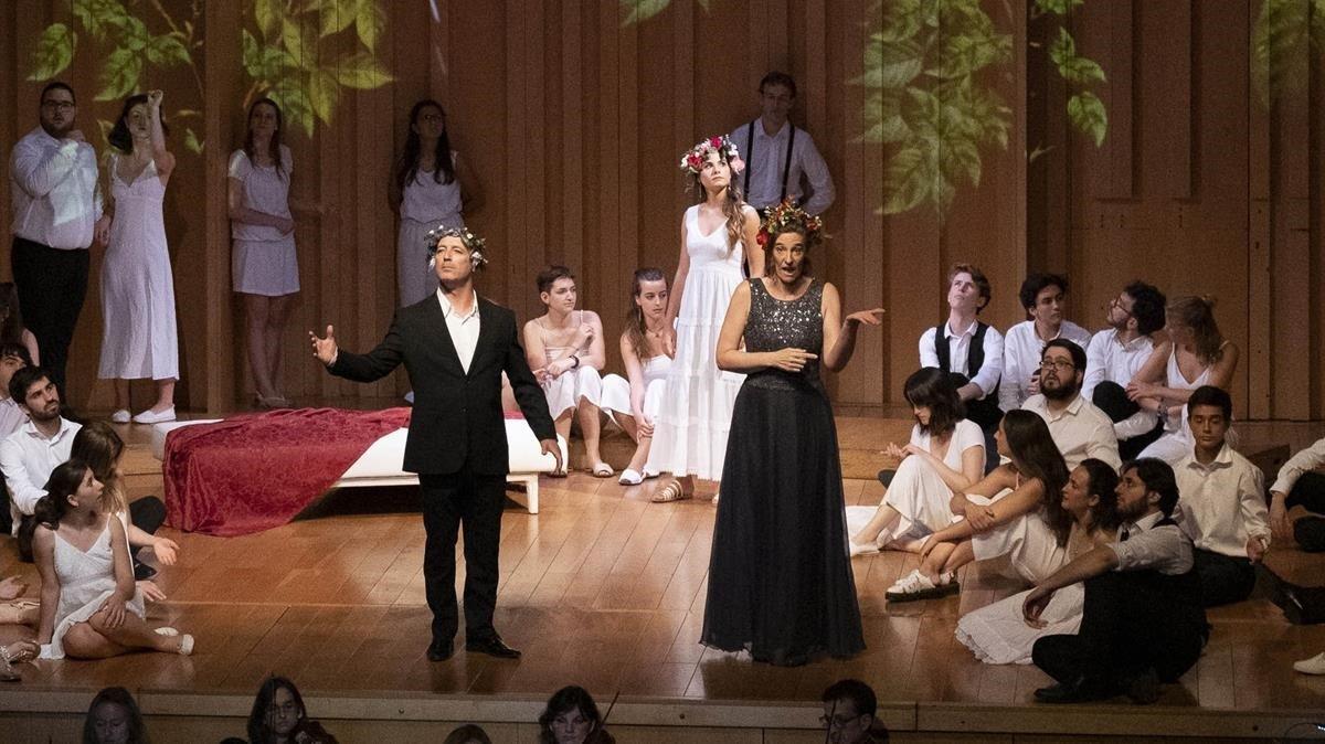Un momento de la interpretación de 'Dido & Aeneas'