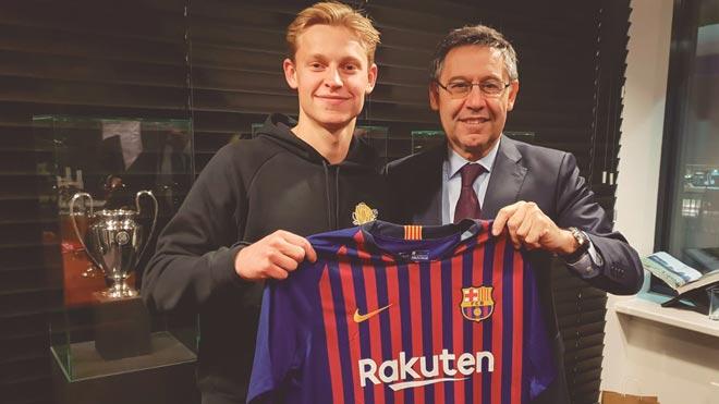 El Barça anuncia el fitxatge de De Jong