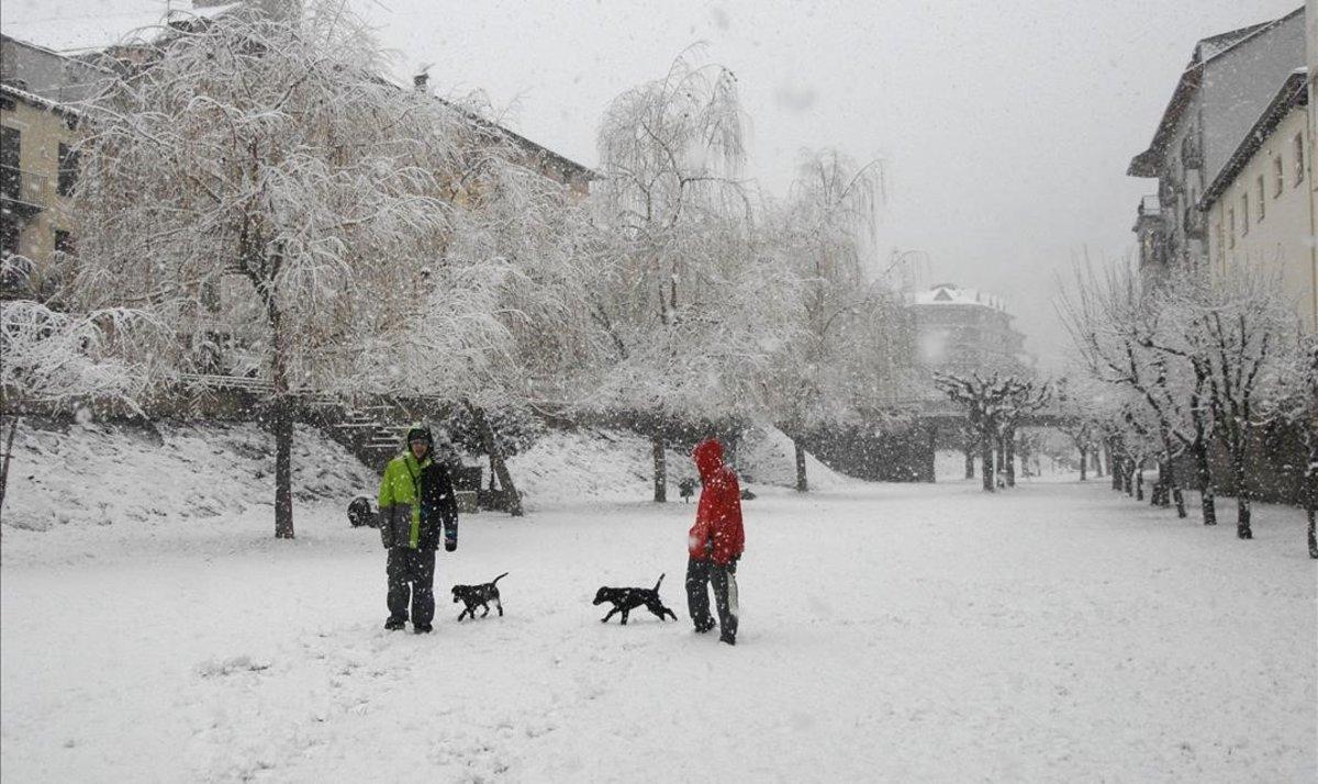 Nieve en Sort, en una imagen de archivo.