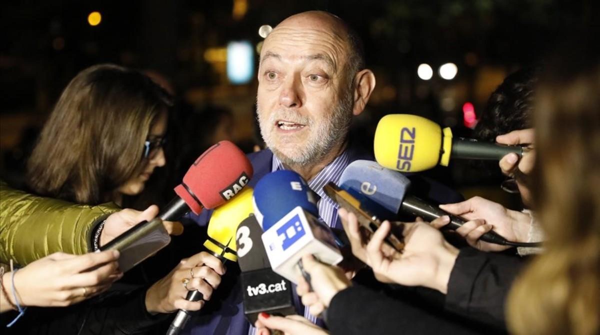 El nuevo fiscal general del Estado, José Manuel Maza, este viernes, 11 de noviembre, en Barcelona.