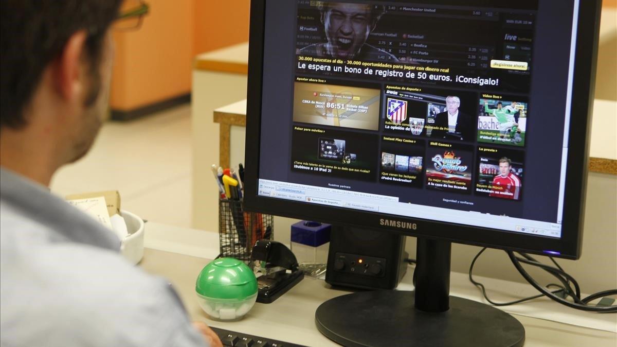 Página web de apuestas por internet 'on line'.