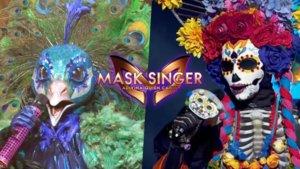Pavo Real y Catrina, máscaras de 'Mask Singer: Adivina quién canta'.