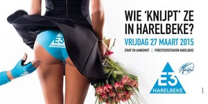 El polémico cartel promocional de la carrera belga.