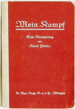Portada de un ejemplar de 'Mein Kampf' subastado en Bloomsbury el pasado junio.